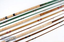 3x Match/coarse fishing rods to include 12ft Robin Harris 'Farstrike' by Davenport & Fordham, 14.5ft