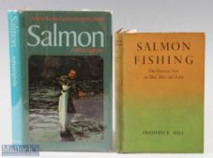 """2x Salmon Fishing Books – Hill, Frederick """"Salmon Fishing the greased line on Dee, Don and Earn',"""