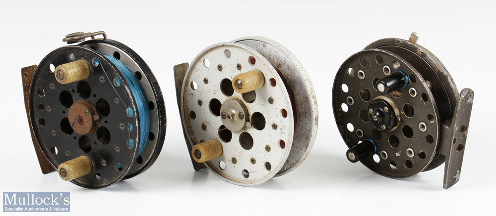 """Grice & Young 3 ½"""" Avon Royal centrepin reel spins well, quick release needs attention, together"""
