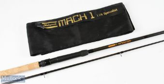 Shakespeare Mach I 11ft Specialist fishing rod – very light use, in MCB