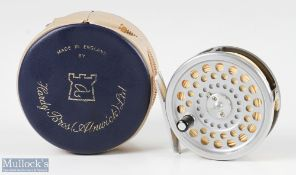 Hardy Bros England Marquis #5 alloy trout fly reel with smooth alloy foot, line guide, loaded with