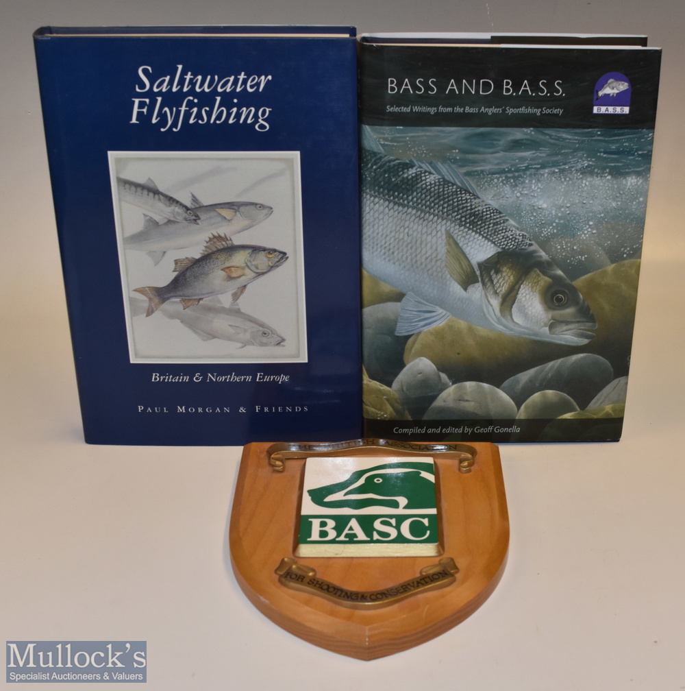Morgan, Paul (Signed) – Saltwater Fly Fishing Britain & Northern Europe Book HB with DJ, plus Bass