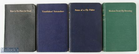 """4x Fly Dressing Fishing Books – Woolley, Roger """"Modern Trout Fly Dressing"""", 1950 3rd edition,"""