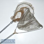 Ogden Smith London alloy folding landing net shaft measures 60cm approx. with circular head together