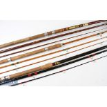 3x Various Rods to include ABU 13ft Mark 6 Zoom match rod in MCB, an Apollo Taper Flash 12ft Match