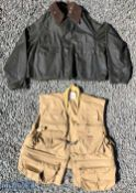 Men's Barbour Spey Jacket (A130) men's size XL, shows signs of use, together with a England's Fly