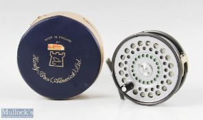 """Hardy Bros England St Aidan 3 ¾"""" alloy fly reel with u line guide, rim tensioner, alloy smooth foot,"""
