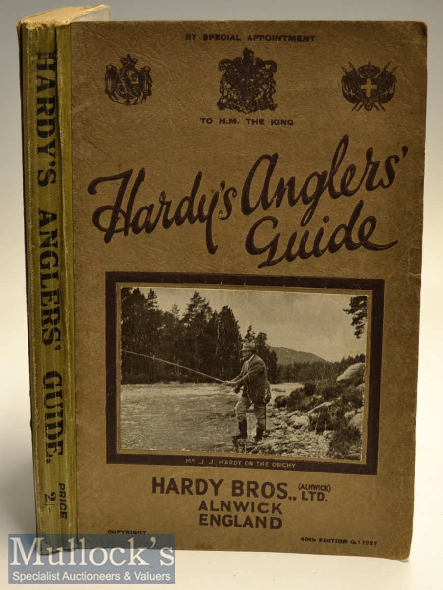 1927 Hardy Bros Anglers' Guide 49th ed in the original wrappers with photograph of Mr J J Hardy