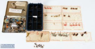 """Selection of Mixed Salmon and Trout Flies of various sizes and designs inc a 2"""" gut eye plus a"""