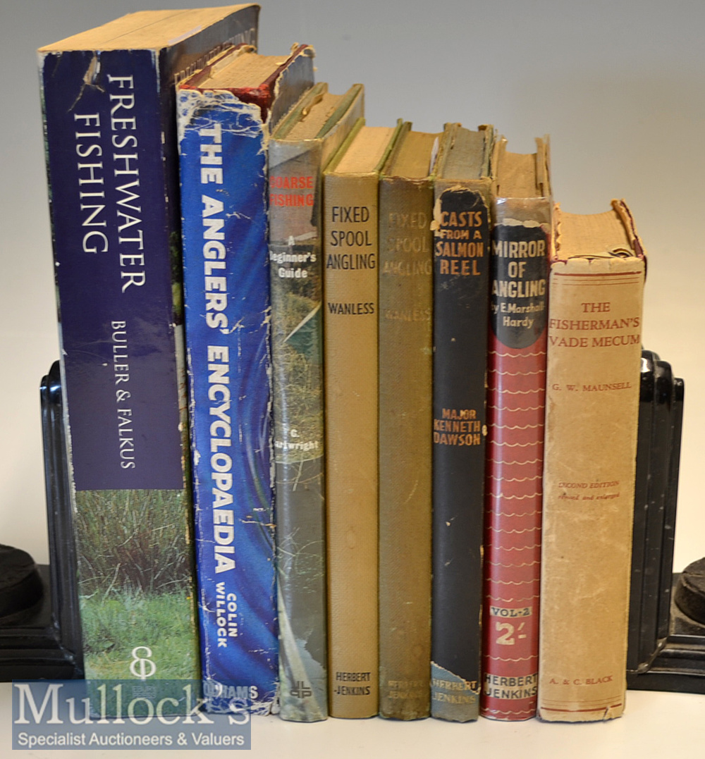 """Selection of Course and Freshwater Fishing Books (8): 7x hardbacks titles include G W Maunsell - """""""