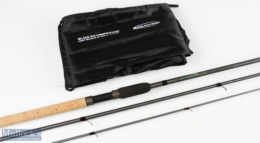 Maver A1310 Black Ice Competition match float rod 13ft very light use, in MCB