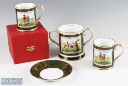 Spode Antique Golfing Series Bone China (4) incl twin handled tankard with another tankard and