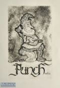 Large 'PUNCHinello' Prints depicting text with image of Punch above. Printed on good quality art