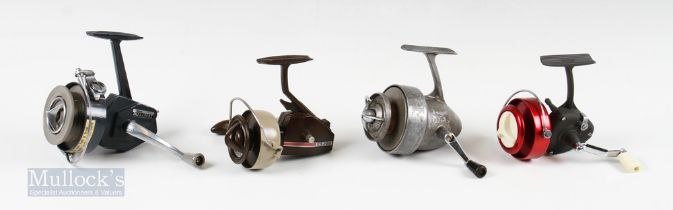 """4x Fishing Reel Selection – T J Harrington and Son, London """"The Omnia"""" with half bail, Intrepid"""