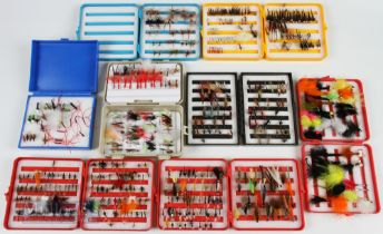 8x Fly Boxes and Trout Flies containing 300+ wet, dry and beadhead flies, housed in 5x Selectafly