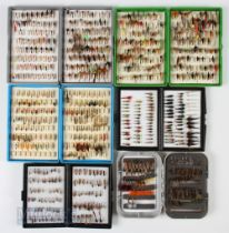 6x Boxes of Assorted Flies – incl 3x Fox boxes, 2 Derwent style boxes and a C&F style box with swing