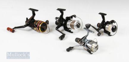 4x Spinning Reels – Daiwa G4000 Power Disc drag system graphite reel, Wychwood Rogue Freespin,