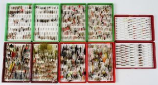 5x Fox Fly Boxes and Flies containing buzzers, nymphs, lures etc (300+)