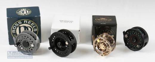 """Fly Reel Selection (4) – Lamson USA 3 3 ½"""" reel with counterbalance handle, Banax Crest 5/6 Gold"""
