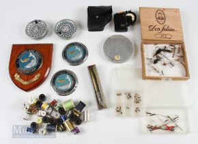 Mixed Selection of Fishing Accessories – incl 2x Hardy Marquis spools, Salmon & Trout Association