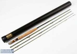 River and Stream Carbon 8ft 4 Piece Fly Rod line 4# with double uplocking reel seat with burr wood