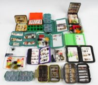 17x Small Fly Boxes and Flies incl Streamworks, Lureflash, Scierra and Snowbee containing 200+