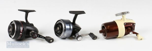 Closed Face Reels (3) – Abu Premier 704 and 506 reels, with a Bronson USA 63L reel in two tone