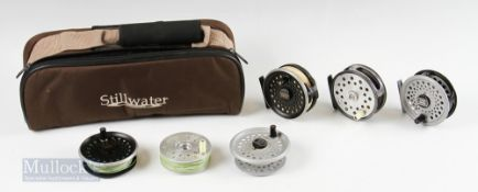 """Still Water Padded Reel Case and Reels – Intrepid Sealey Intrepid Dragon 3 3/8"""" reel and spare"""