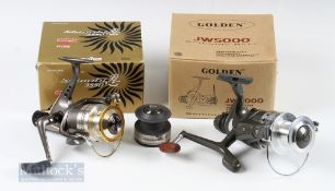 Daiwa Shinobi 3550 Spinning Reel with spare spool, instructions and box with a Golden JW5000