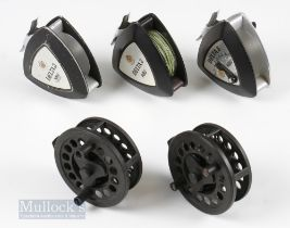 Mixed Reel Selection (5) – 2x Abu Delta 3 with light use, and a Delta 5 reel, appears unused, with