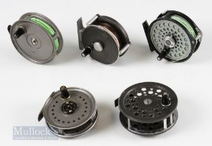 """3x J W Young & Sons Fly Reels – 3"""" 3 pillar Valdex, 3 ¼"""" Beaudex and 3 ½"""" Condex, with an Intrepid"""