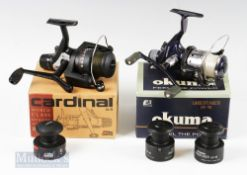 Abu Garcia Cardinal 54R Spinning Reel with spare spool, original box and instructions, together with