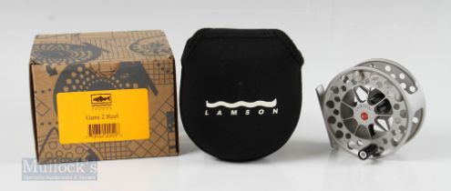 """Fine Lamson Guru G2.0 3 ¼"""" Fly Reel with ventilated spool with counter balanced handle with rear"""