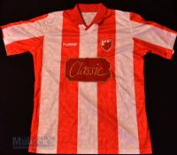 1992/94 Red Star Belgrade Home football shirt size XL, Hummel, made in England, red and white, short