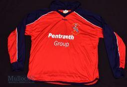 2002/03 Bangor City FC Away football shirt size L, in red, Teejac, long sleeve