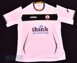 Connah's Quay 'The Nomads' Away football shirt size XL, in white and black, Joma, short sleeve