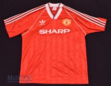 1988/90 Manchester United Home football shirt size XL, in red, Adidas, short sleeve