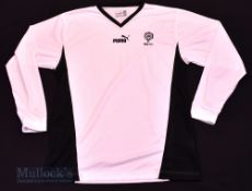 Rhyl FC Home football shirt size XXL in white and black, Puma, long sleeve