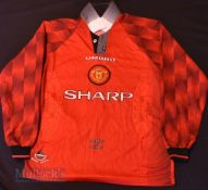 1996/98 Manchester United Home football shirt size large, in red, Umbro, long sleeve
