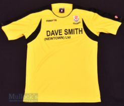 Newton AFC Away football shirt size M, in yellow and black, Macron, short sleeve