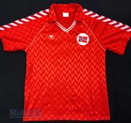 1986/88 Norway International Home football shirt size XL 8/9, Hummel, in red and white, stitched