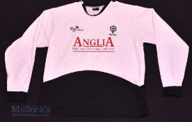 2006/08 Rhyl FC Home football shirt size L, in white, long sleeve, Classic Sports