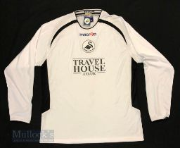 2006/07 Swansea City AFC Home football shirt size XL, in white, Macron, long sleeve