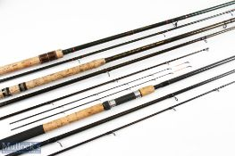 """Shimano Twin Power 120 Heavy Feeder 12ft 3 piece Rod with 23"""" handle with sliding reel seat, in"""