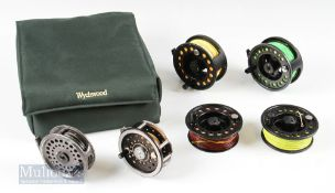 """Wychwood Padded Case and Fly Reels – incl Airflo 3 ¾"""" composite reel and spare spool, Intrepid 3 3/"""