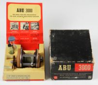 Abu 3000 Multiplier Reel with Display Box reel in brown finish numbered 080402, runs smooth, with