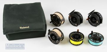 """Reel and Spool Selection with Wychwood Case – LA Scorpion Economy composite 5/6/7# 3 3/8"""" fly reel"""