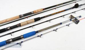 3x Various Rods – Aurora 12+ Fish Super Glass 7ft 2 piece, line 12lb to 20lb, appears unused, Ron