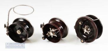 "3x Alvey Australia Sea Reels – 520-A12 5 ¼"" deep sea snapper reel with twin handle in original"