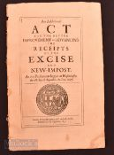 Commonwealth Act of Parliament for Raising Money For Naval Forces In War Against Spain, 1657